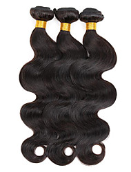 cheap -Indian Hair Body Wave Human Hair Weaves 3 Pieces Natural Color Hair Weaves