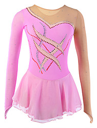 cheap -Figure Skating Dress Women's Girls' Ice Skating Dress Spandex Rhinestone Performance Leisure Sports Skating Wear Handmade Fashion Long