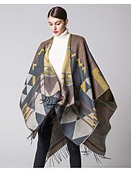 Žene Kolaž Vintage Sva doba Akril Pravokutnik Crn žuta Sive boje Bijela Tamno plava