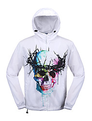 cheap -Men's Daily Sexy / Cute Regular HoodiesPrint Multi-color Round Neck Long Sleeve Cotton