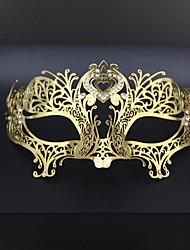 Sophisticated Venetian Laser Cut Filigree Metal Masquerade Ball Mask Crystal Rhinestone3009A3