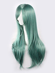 cheap -Synthetic Wig Straight Green Women's Capless Cosplay Wig Synthetic Hair