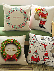 cheap -1Pcs Christmas Garland Christmas decorations pattern Pillow cover