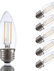 cheap -GMY® 6pcs 200 lm E26/E27 LED Filament Bulbs B 2 leds COB Dimmable Warm White V