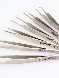 Rewin Werkzeug 6pcs Edelstahl Pinzette gesetzt
