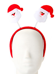 cheap -1 Pc Sponge Santa Claus Design Hair Hoop Christmas Ornament Party Supply