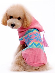 cheap -Cat Dog Sweater Hoodie Dog Clothes Color Block Pink Acrylic Fibers Costume For Pets Men's Women's Cute Casual/Daily