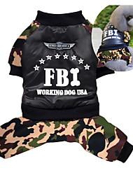 economico -Cane Cappottini Tuta Abbigliamento per cani Traspirante Cosplay Tenere al caldo Polizia/Forze armate Verde Costume Per animali domestici
