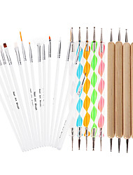 cheap -25Pcs DIY Nail Art Design Painting Dotting Pen Nail Drawing Self Design Brushes Manicure Bundle Tool Kit Set