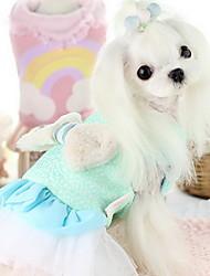 Cane Vestiti Abbigliamento per cani Romantico Di tendenza Matrimonio Tinta unita Giallo Rose Blu Rosa