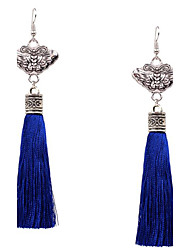 cheap -Women's Drop Earrings - Sterling Silver, Silver Plated Bowknot Tassel, Fashion Red / Blue For Party / Daily / Casual