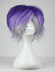 cheap -Synthetic Wig / Cosplay & Costume Wigs Curly Synthetic Hair Blue Wig Women's Short Capless