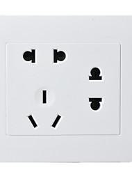 Недорогие -семь отверстий гнездо ПК панель два два три типа вилка 86 скрывала настенный выключатель розетка / четыре пакета для продажи