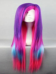 cheap -Costume Wigs / Synthetic Wig Straight Purple Women's Capless Cosplay Wig Synthetic Hair