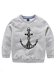 Boys' Casual/Daily Solid Hoodie & Sweatshirt,Cotton Spring Fall Long Sleeve Long