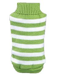 preiswerte -Katze Hund Pullover Hundekleidung Streifen Grün Blau Rosa Acrylfasern Kostüm Für Haustiere Herrn Damen Lässig/Alltäglich