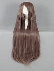 cheap -new style 100cm long straight light brown synthetic cosplay wig