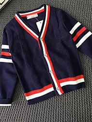 abordables -Garçon A Rayures Décontracté / Quotidien Rayé Manches Longues Longue Coton Pull & Cardigan