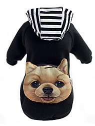 Dog Hoodie Backpack Dog Clothes Cute Animal Black Red Costume For Pets