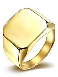 Ring Edelstahl versilbert vergoldet Modisch Silber Golden Schmuck Hochzeit Party Alltag Normal 1 Stück