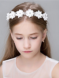 abordables -Cristal Imitation de perle Agate Zircon Dentelle Strass Polyester Organza Mousse Diadèmes Bandeaux Fleurs Chaîne de tête Couronnes Pince
