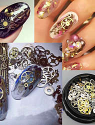 120pcs Chiodo decorazione di arte strass Perle makeup Cosmetic Nail Art Design