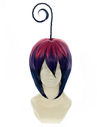 cheap -Blue Exorcist Mephisto Pheles Gradient Pink Purple and Blue Halloween Wig Synthetic Wig Costume Wigs