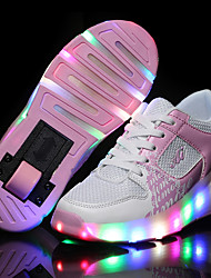 cheap -LED Light Up Shoes, Kid Boy Girl Wheely's Roller Shoes / light Single Wheel Skating Shoes / Athletic / Casual Shoes Black Blue Pink