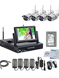 cheap -Strongshine® Wireless IP Camera with 960P/Infrared/Waterproof and NVR with 7Inch LCD /2TB Surveillance HDD Kits