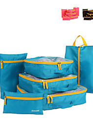 6 sets Travel Bag Travel Luggage Organizer / Packing Organizer Packing Cubes Travel Storage Multi-function Large Capacity Clothes Net