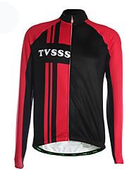 TVSSS Camisa para Ciclismo Homens Manga Longa Moto Camisa/Roupas Para Esporte Blusas Térmico/Quente Zíper Frontal Respirável Bolso