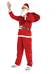 cheap -1PC Christmas Clothing 5 Pieces Of Non Woven Clothing For Adults To Perform Costumes Santa Claus Clothes Props
