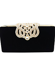 Women Bags Velvet Evening Bag Crystal/ Rhinestone for Wedding Event/Party Formal All Seasons Fuchsia Red Camel Wine Royal Blue