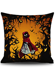 Halloween Little Red Riding Hood Square Linen  Decorative Throw Pillow Case Kawaii Cushion Cover