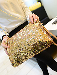 Women Bags All Seasons Special Material Shoulder Bag for Casual Gold Black Silver