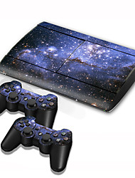cheap -PS3 Slim 4000 Console Protective Sticker Cover Skin Controller Skin Sticker