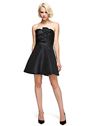 cheap -A-Line Fit & Flare Sweetheart Short / Mini Taffeta Cocktail Party Dress with Bow(s) by TS Couture®