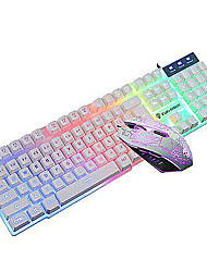 Gaming mouse and keyboard combo Illuminated USB Wired Kit(black,white)