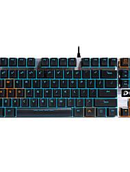Gaming-Tastatur mechanische Tastatur ergonomisch Hintergrundbeleuchtung schwarz Welle programmierbar 87keys kein Konflikt