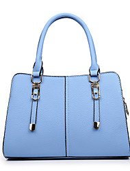 Women Bags All Seasons PU Tote for Wedding Event/Party Casual Formal Office & Career Black Red LightBlue Dark Blue Gray