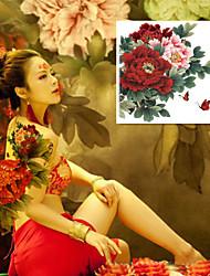 abordables -1 pcs Tatouages Autocollants Tatouages temporaires Séries de fleur Imperméable / Grande Taille Arts du Corps