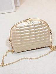 Women Shoulder Bag PU Casual Gold White Black Silver