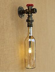 AC 220V-240V 3W e27 lâmpada de parede de água âmbar com luz de parede interruptor