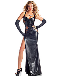 Angelo e diavolo Costumi Cosplay Ali Vestito da Serata Elegante Donna Halloween Carnevale Feste/vacanze Costumi Halloween Nero Tinta unita