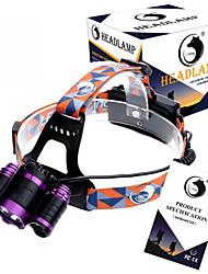 abordables -U'King ZQ-X809 Linternas de Cabeza Faro Delantero LED 4000 lm 4.0 Modo Cree XM-L T6 Enfoque Ajustable Recargable Tamaño Compacto Fácil de