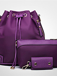 economico -Donna Sacchetti Nylon sacchetto regola Set di borsa da 3 pezzi per Casual Sport Per tutte le stagioni Nero Viola Fucsia Blu