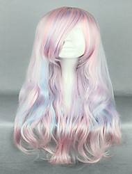 cheap -Synthetic Wig Wavy Pink Women's Capless Carnival Wig Halloween Wig Cosplay Wig Very Long Synthetic Hair