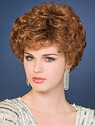 cheap -Women Synthetic Wig Short Curly Brown Natural Wigs Costume Wig
