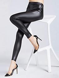 Pantaloni Da donna Skinny Sensuale PU (Poliuretano) Media elasticità