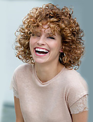 cheap -Synthetic Wig Curly / Afro Synthetic Hair Blonde Wig Women's Short
